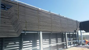 air con pipework on roof