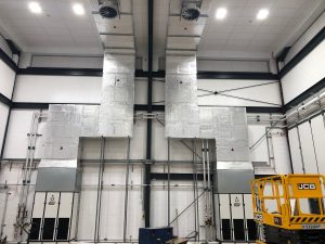 upflow units on wall
