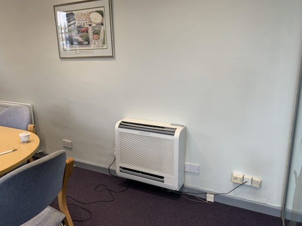 wall air con unit in meeting room