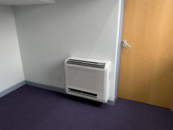 wall air con unit in office
