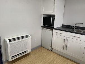 air con unit in kitchen