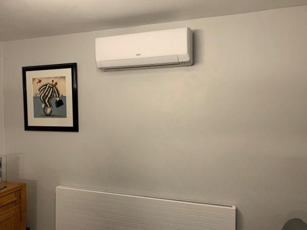 air-con unit on wall