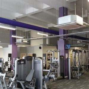gym space with air-con overhead