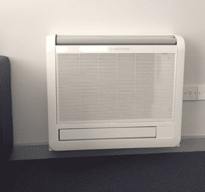 low wall air con unit