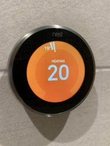 Nest heating dial