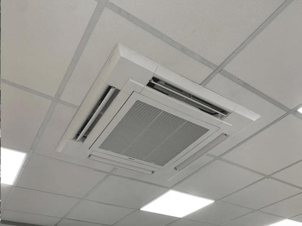 casette unit ceiling air con installation