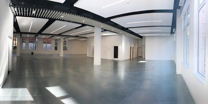 air con installation in open plan office space